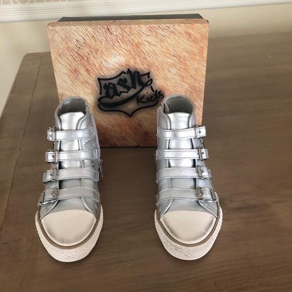 Ash Shoes | Nib Ash Silver Vava High